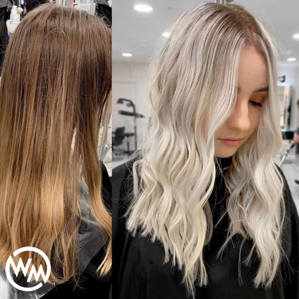 wavy blonde ombre hair