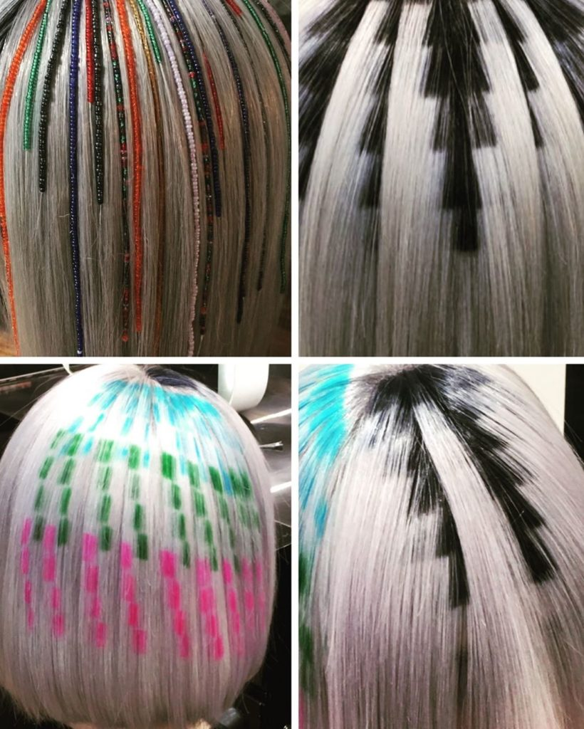 marginal colorful hairstyle