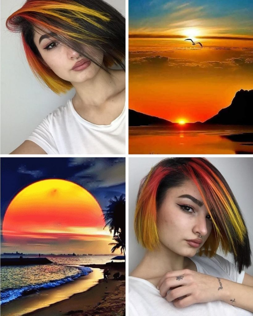 sunset color hairstyle