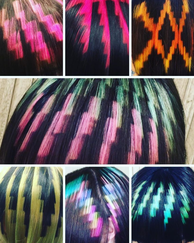 zigzag colorful hair
