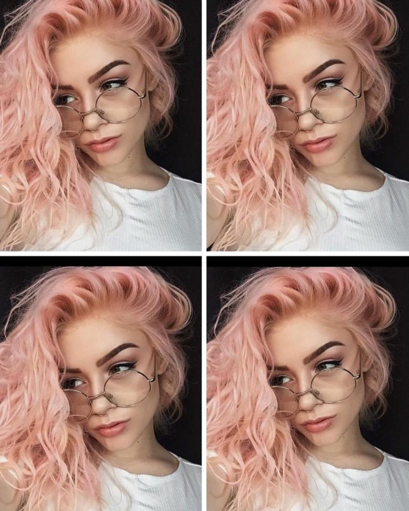 pink messy hairstyles