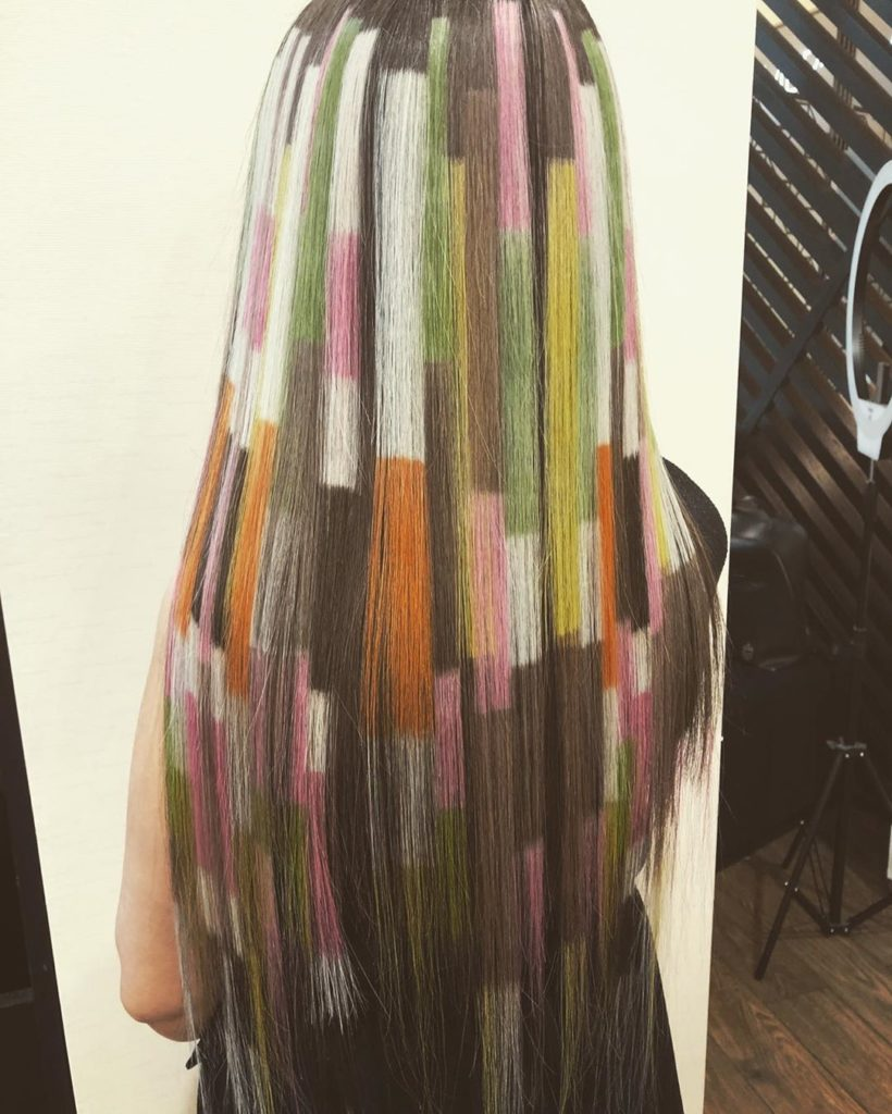 striped colorly hair