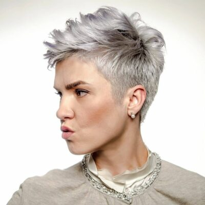 pixie cut gray hair