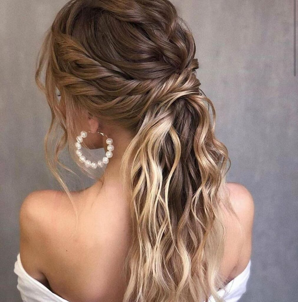 long wavy braid hairstyle
