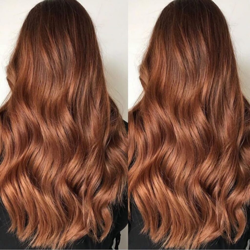 red wavy hairstyle