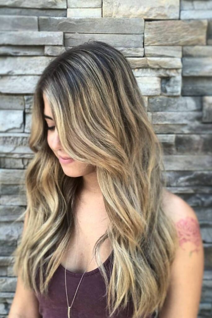 long ombre blonde hair