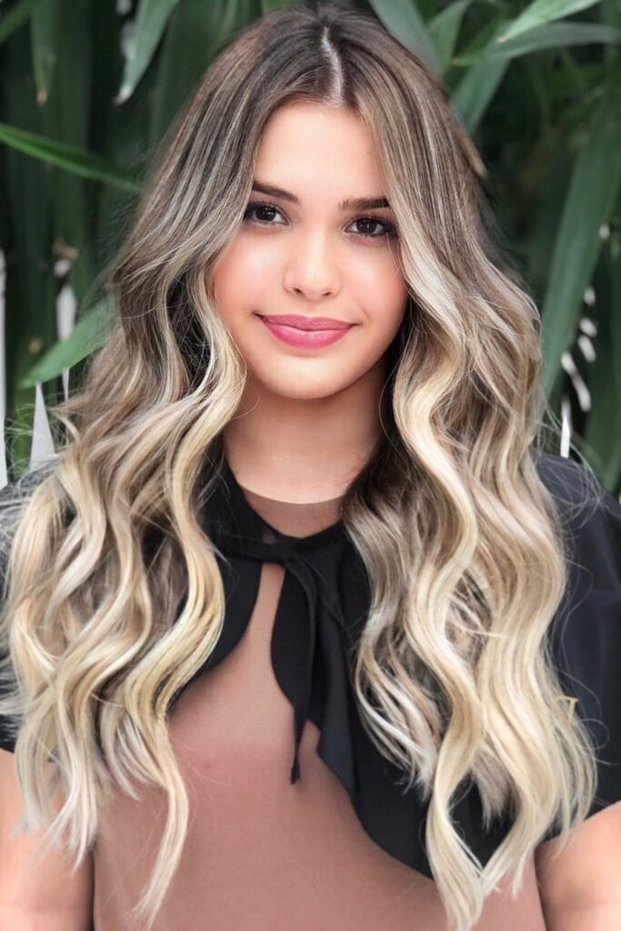 long ombre hairstyle