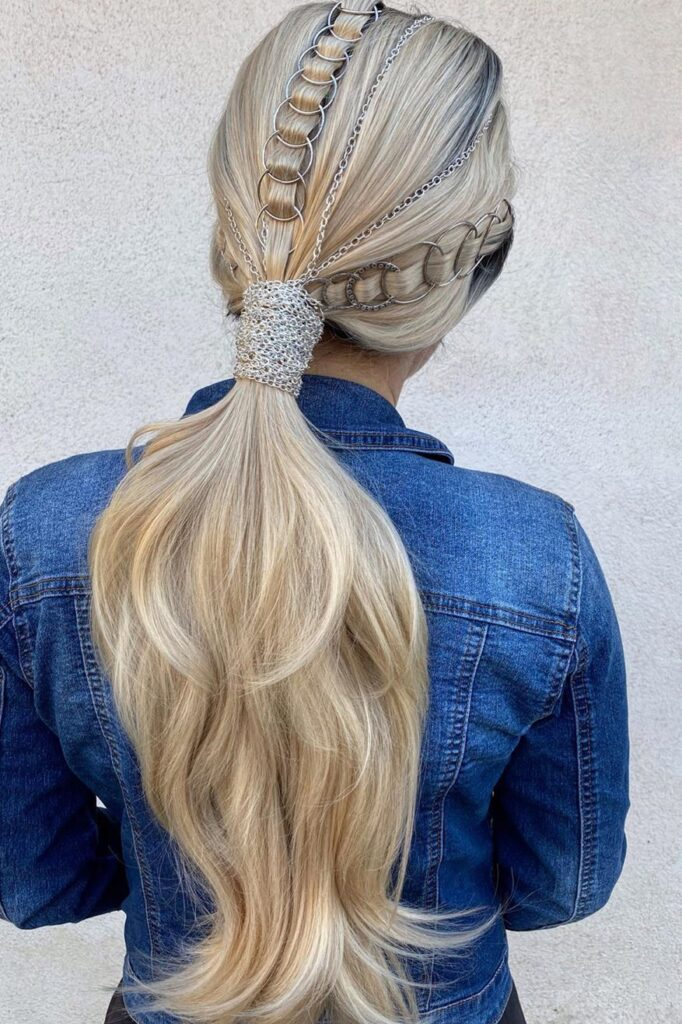 long ponytail braid hairstyle