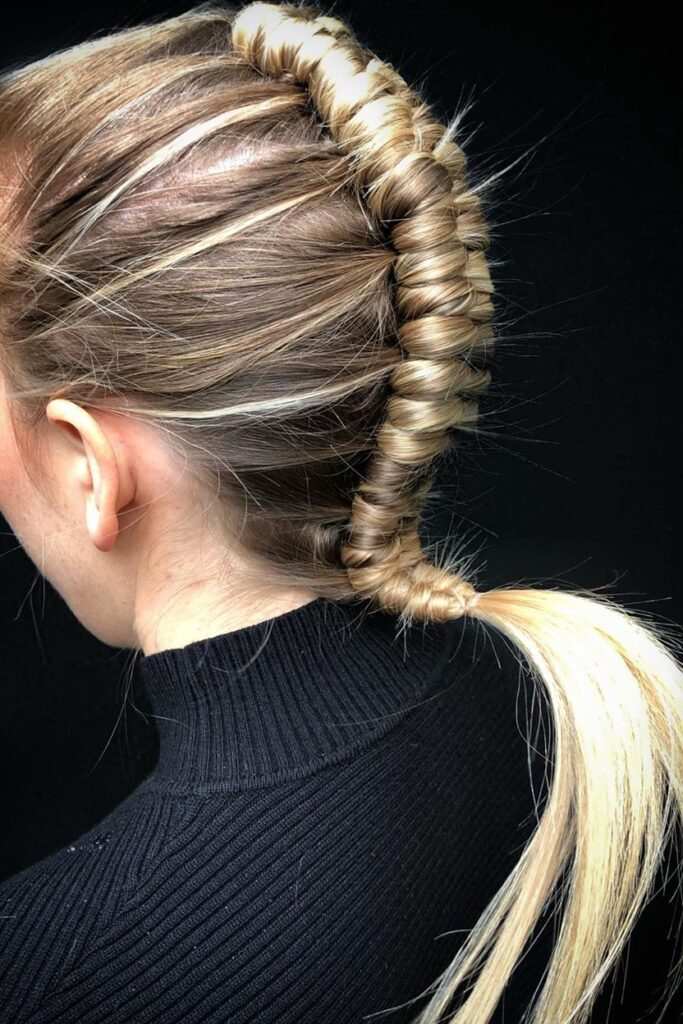 long herringbone braid hairstyle