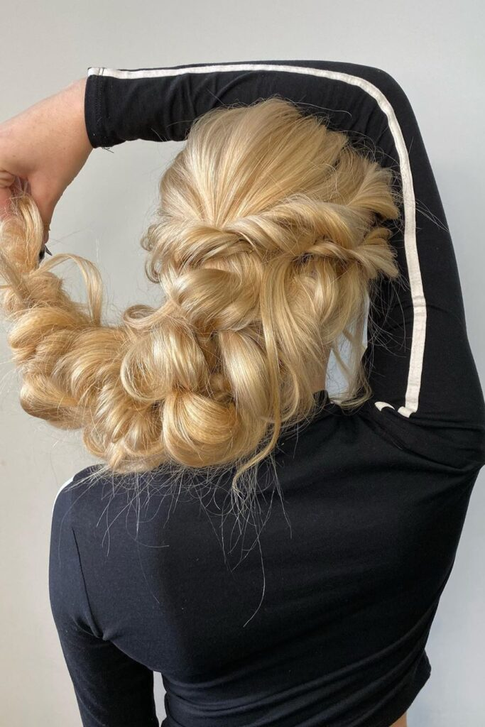 long blonde braid hairstyle