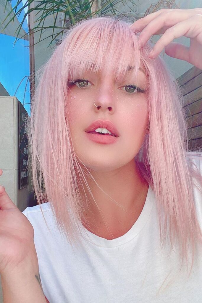 Pixie Pink Hairstyle