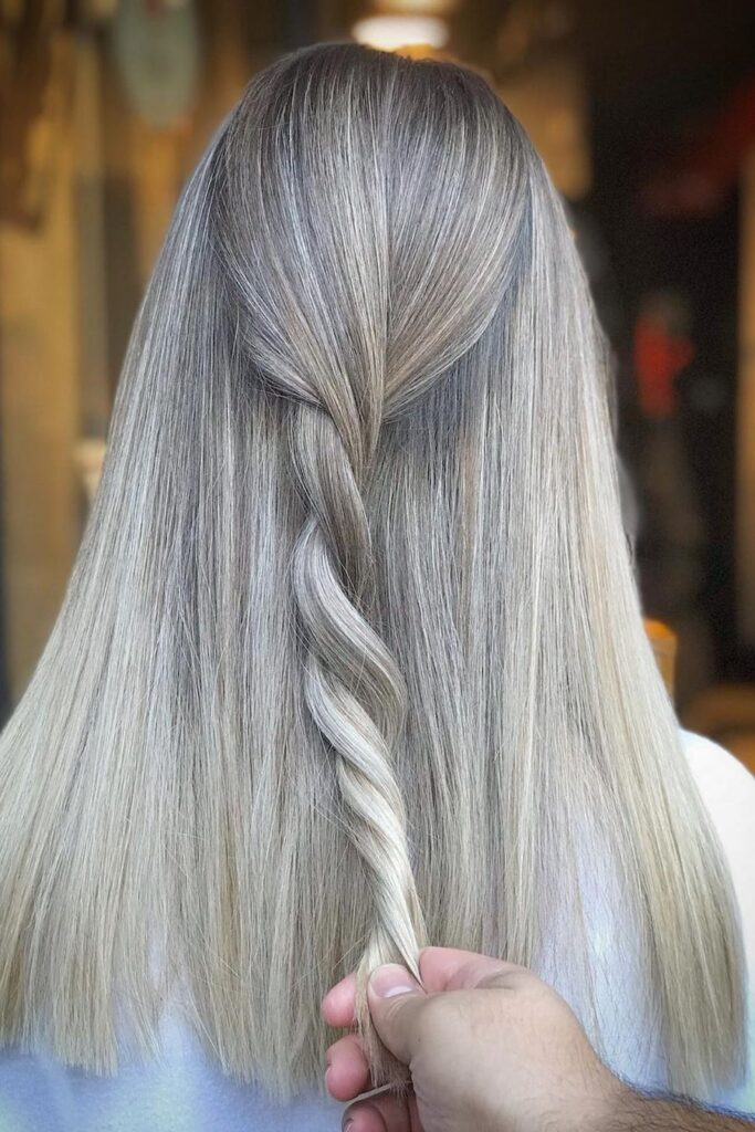 long straight braid hairstyle
