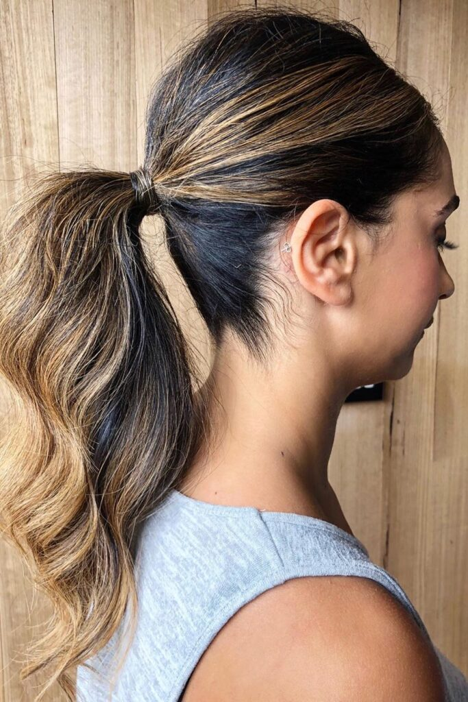long ponytail hairstyle