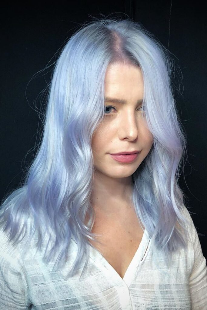 platinum bllue hairstyle