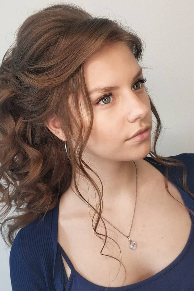 curly brown hairstyle