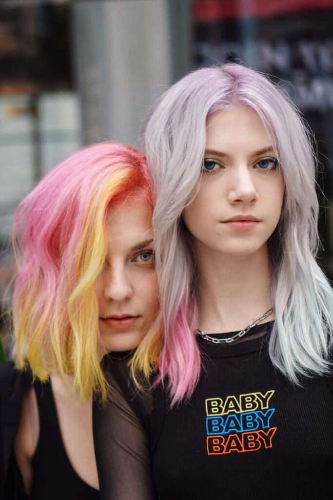 pink and platinum hairstyles