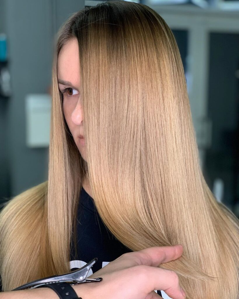 light brown long hairstyle
