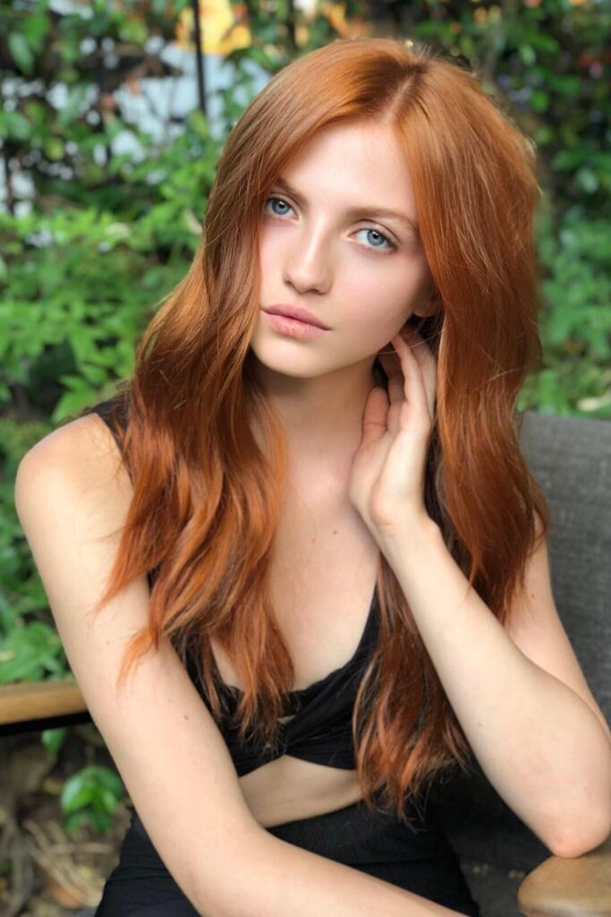 choppy gorgeous red hairstyle