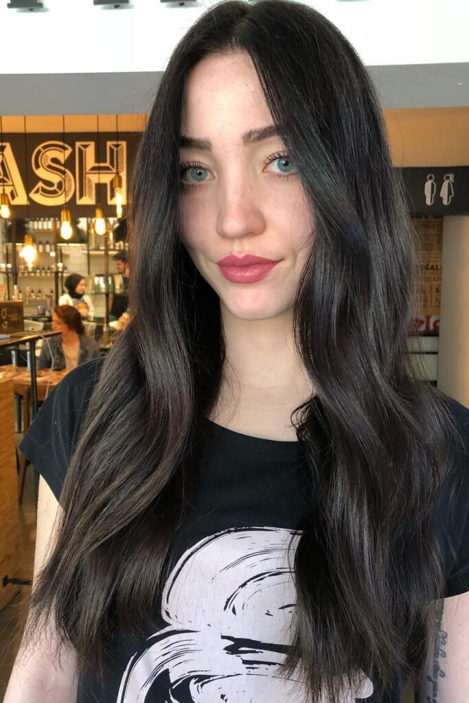 long straight wavy hairstyle