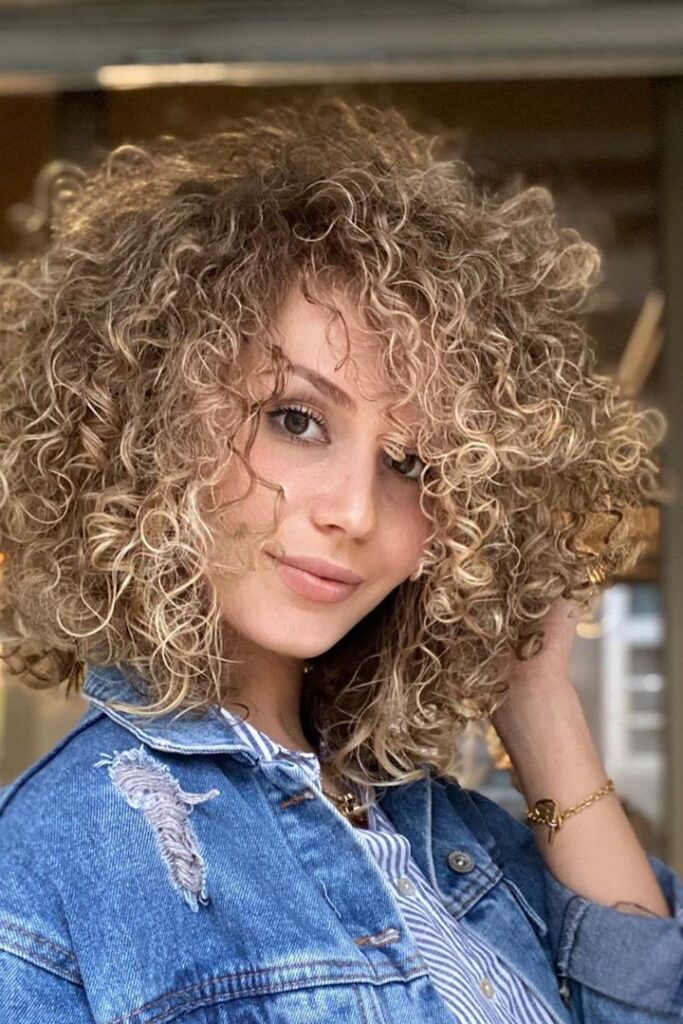 curly chic hairstyle