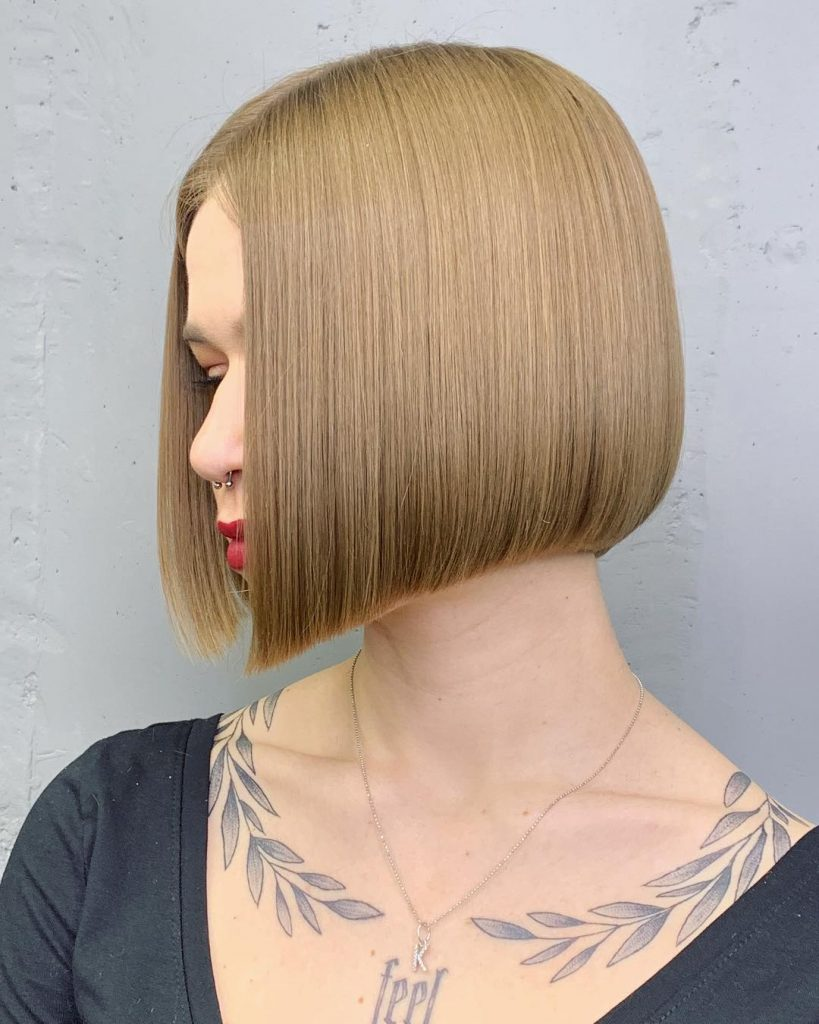 Chin-Lenght Straight Hairstyle