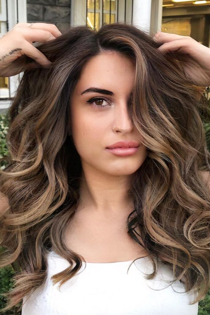 long brown wavy hairstyle