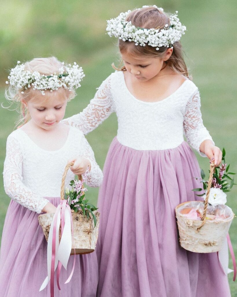 Flower Girl embellished with real flowers