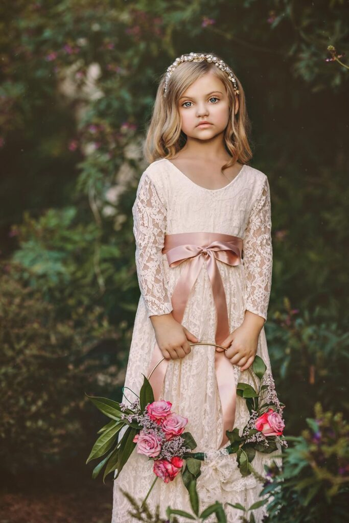 Flower Girl Hair with Pearls