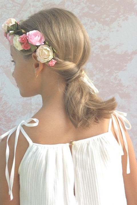 Flower Girl Twisted Ponytail