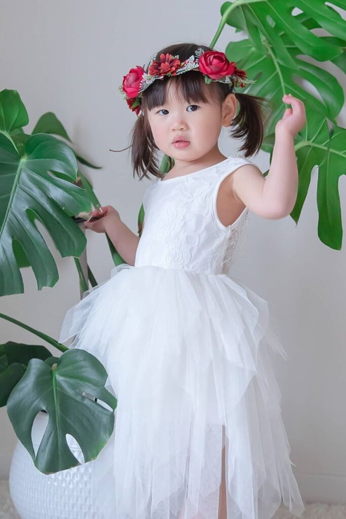 Flower Girl Hair with Two Side Tails