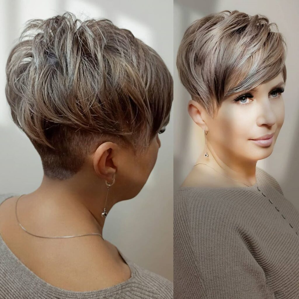 Asymmetric Pixie Cut With Back Shaved