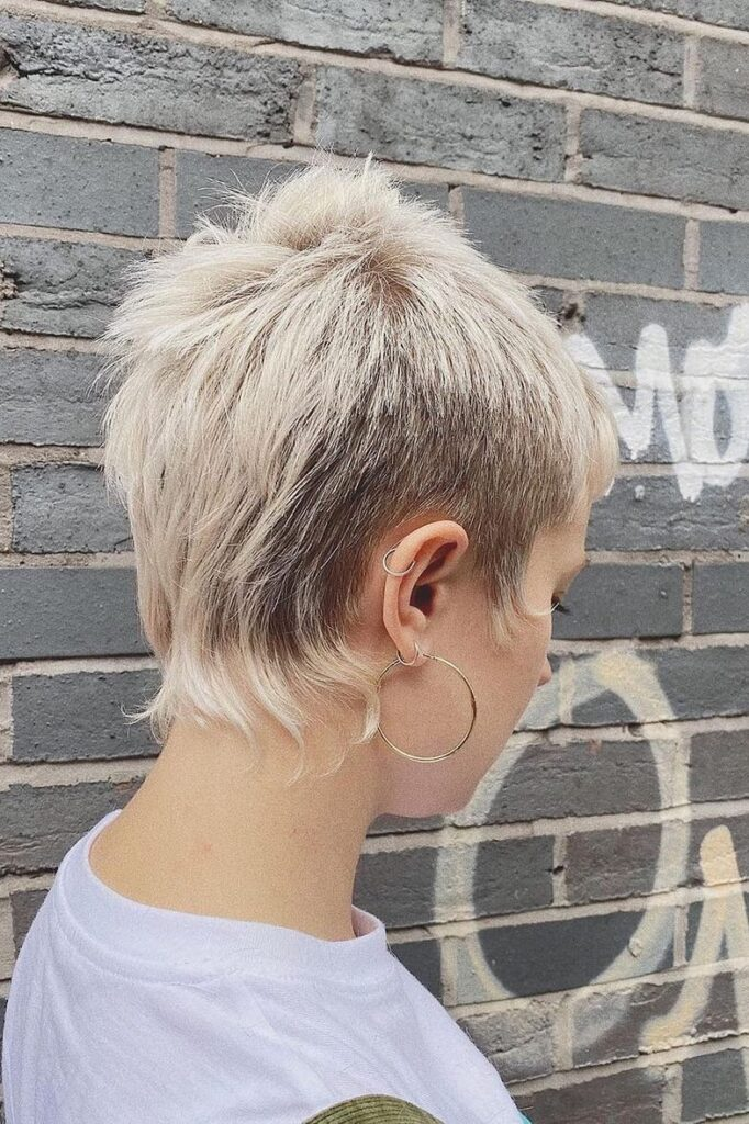 Asymmetrical Pixie Cut With Sides Shaved