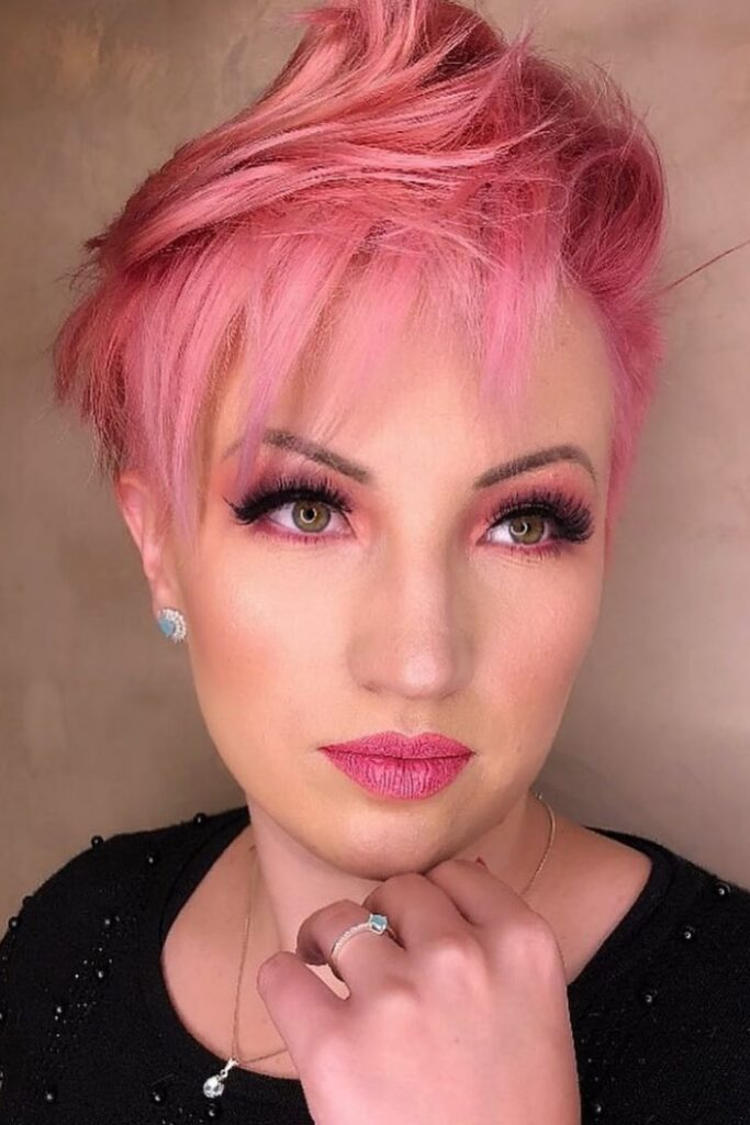 Colorful and Layered Pixie Cut
