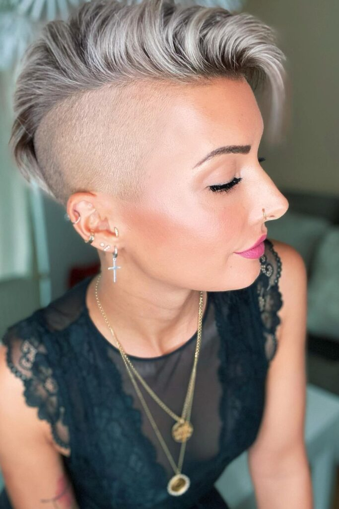 pixie haircut gray