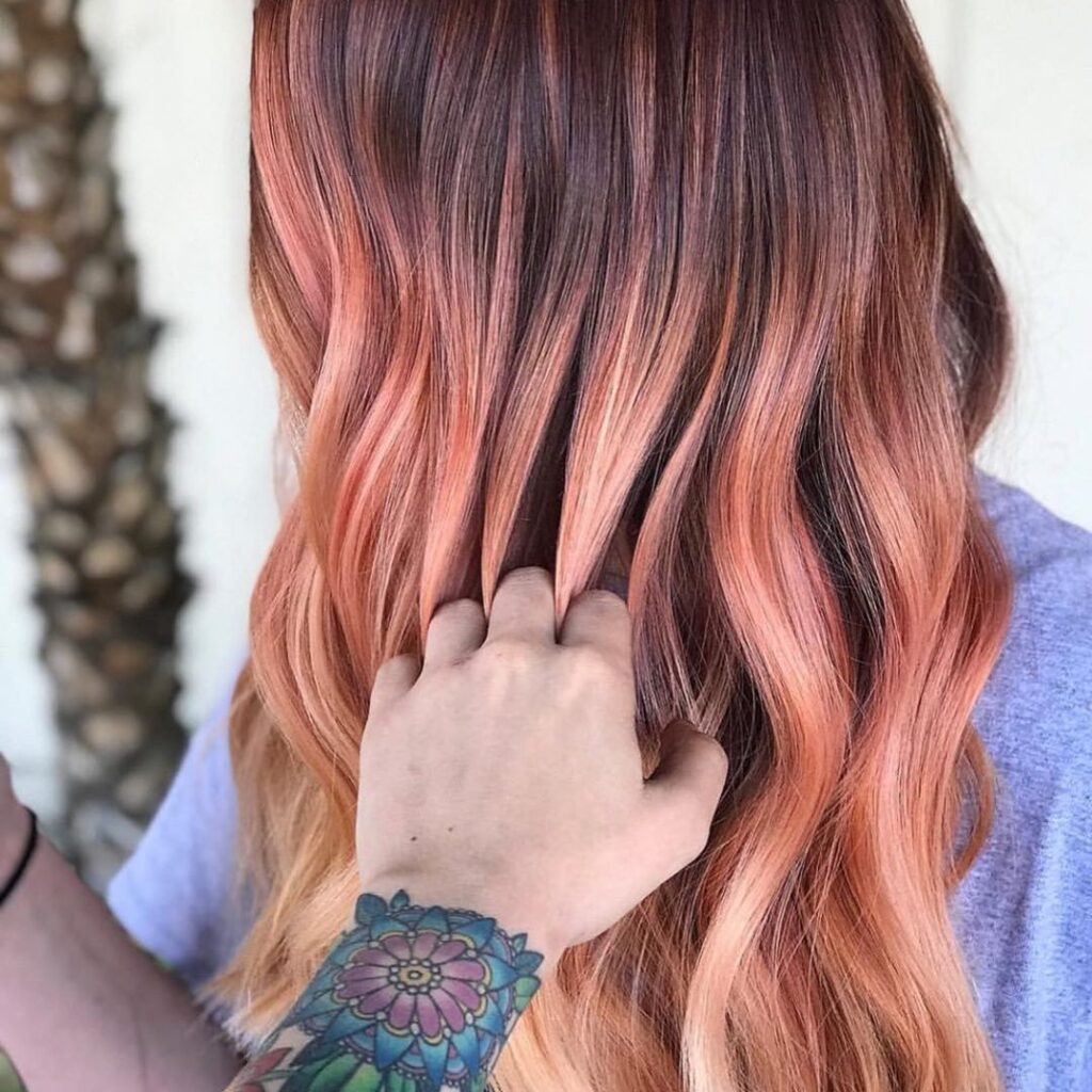 Golden Red Balayage Hairstyles