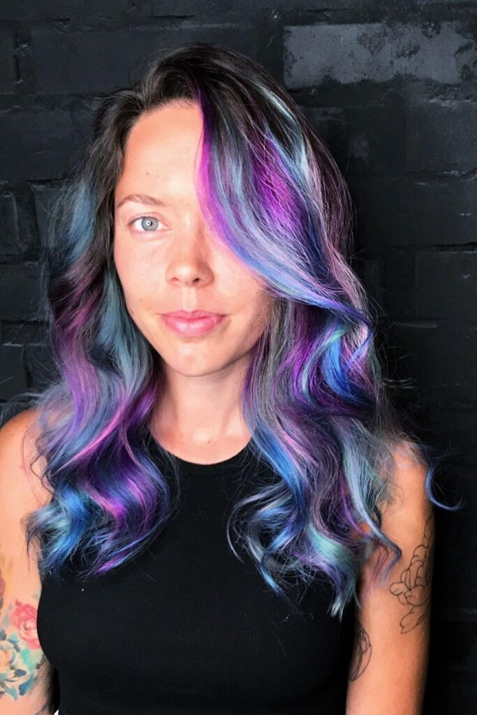 A deep to end blue ombre hair