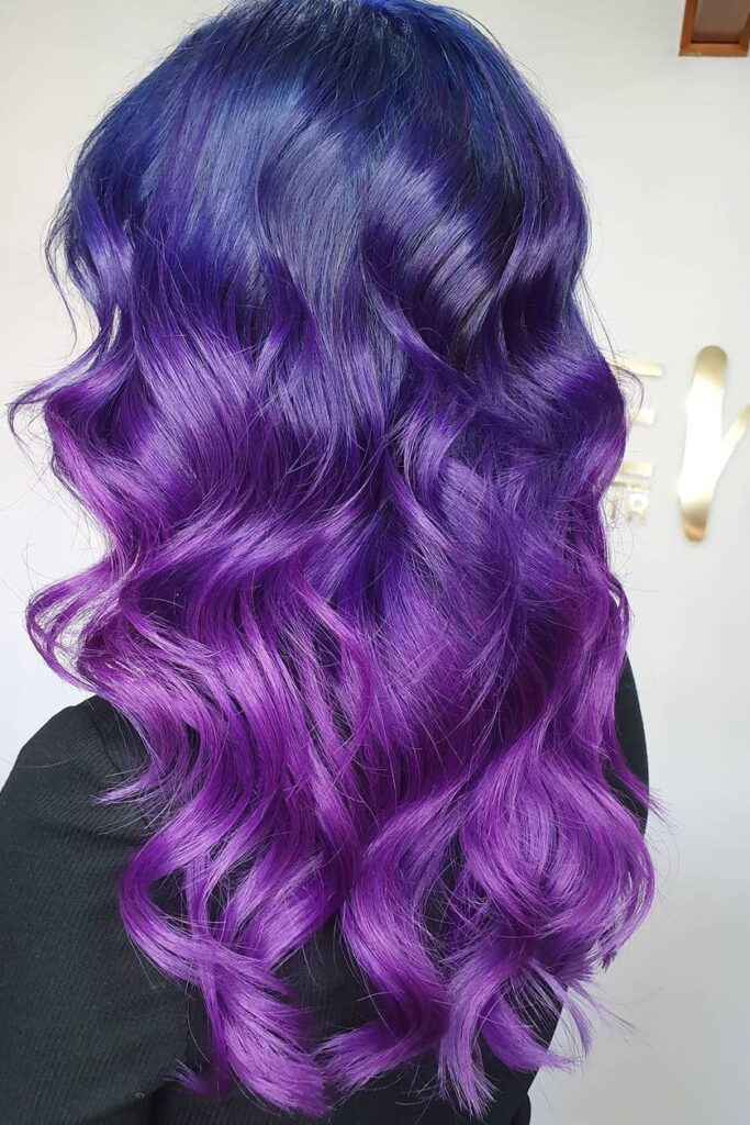 Blue to Purple Natural Transition