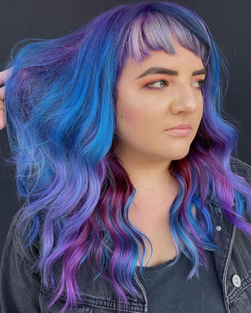 Colorful Waves With Bangs