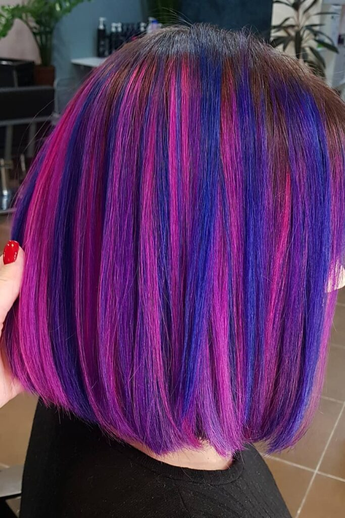Dark and Intermittent Colors Hairstyle