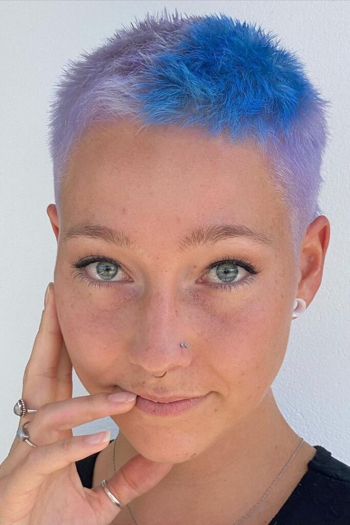 Pastel and Pixie Pattern hairstyle