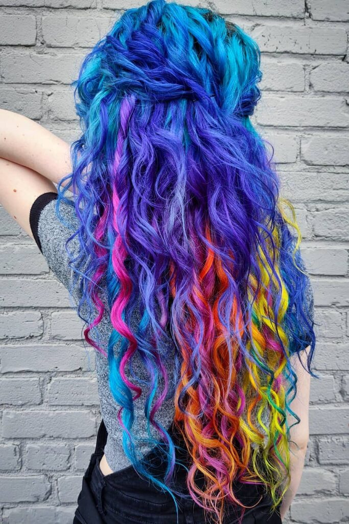colorful shades of blue hair