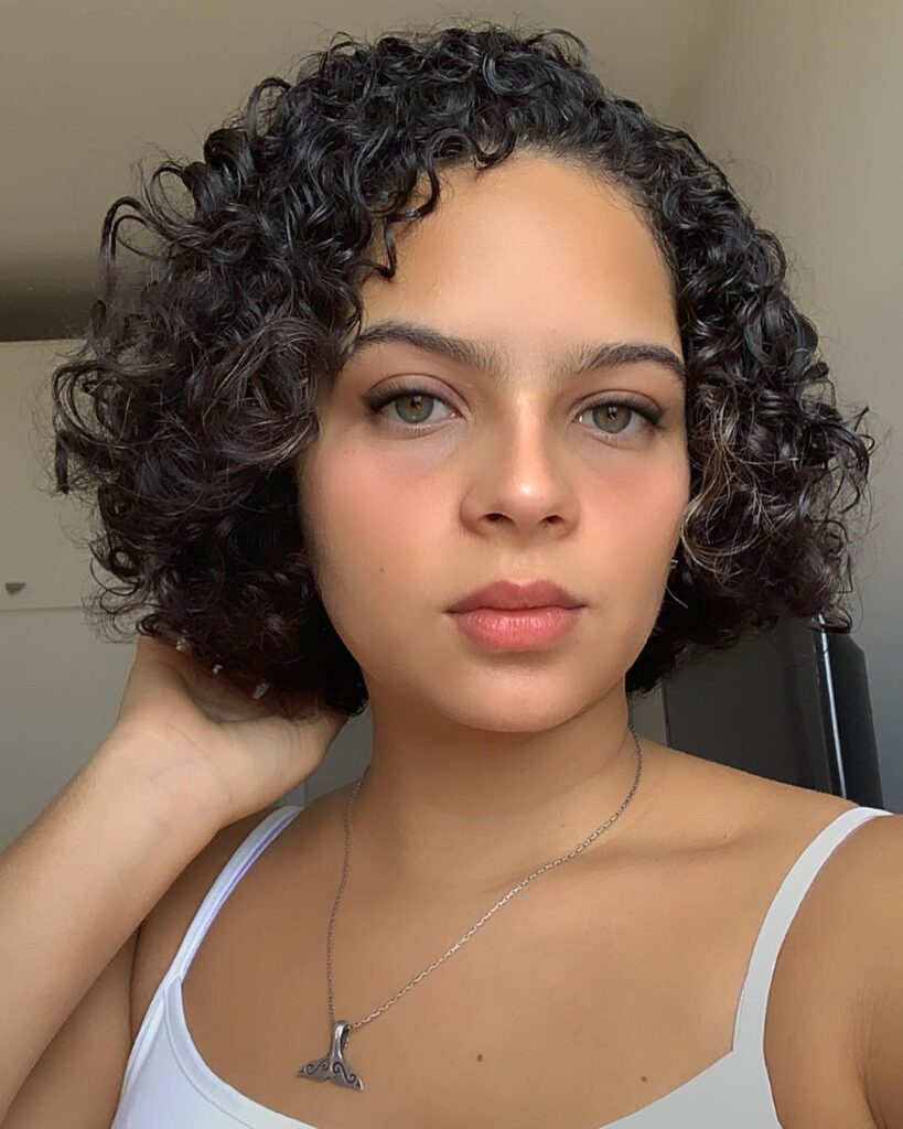 Color for Brunettes on Curly Hair
