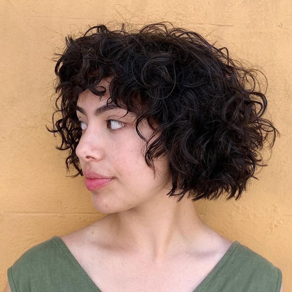 Curly Short and Bob Hairstyle