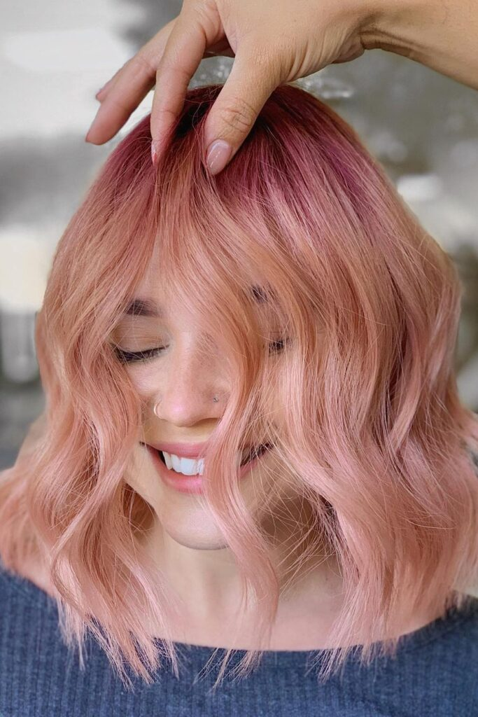 pink ombre hairstyle